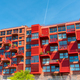 Newly built red multi-family apartment house  - PhotoDune Item for Sale