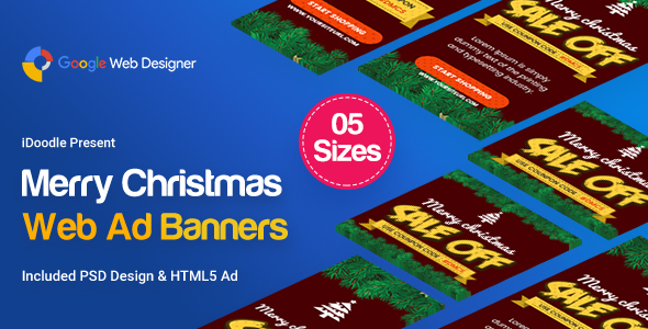 Christmas Banner HTML5 - Animated            Nulled