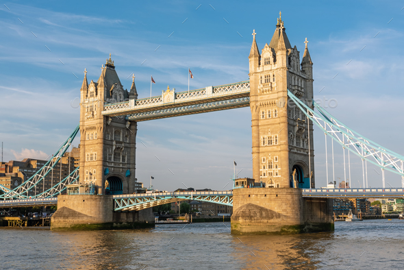 The famous Tower Bridge in London - Stock Photo - Images