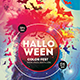 Halloween Color Fest Photoshop Flyer Template - GraphicRiver Item for Sale
