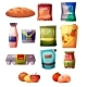 Grocery Products Supermarket Vector Illustration - GraphicRiver Item for Sale