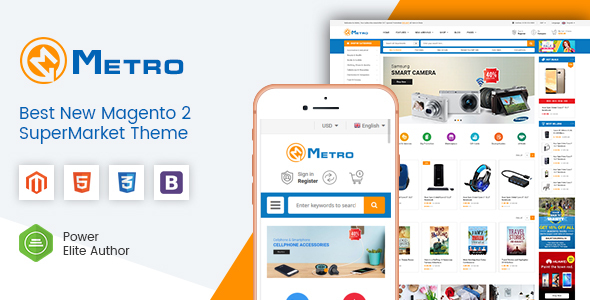 Metro - Multipurpose Responsive Magento 2 MarketPlace Theme - Shopping Magento
