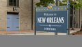 Sidewalk Sign Says Welcome to Downtown New Orleans - PhotoDune Item for Sale
