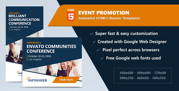 HTML5 Animated Banner Ads - Event Promotion (GWD)            Nulled