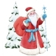 Watercolor Santa Claus Illustration