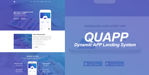 QUAPP - Dynamic App Landing Page Management System            Nulled