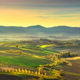 Tuscany countryside misty panorama, rolling hills and green fiel - PhotoDune Item for Sale