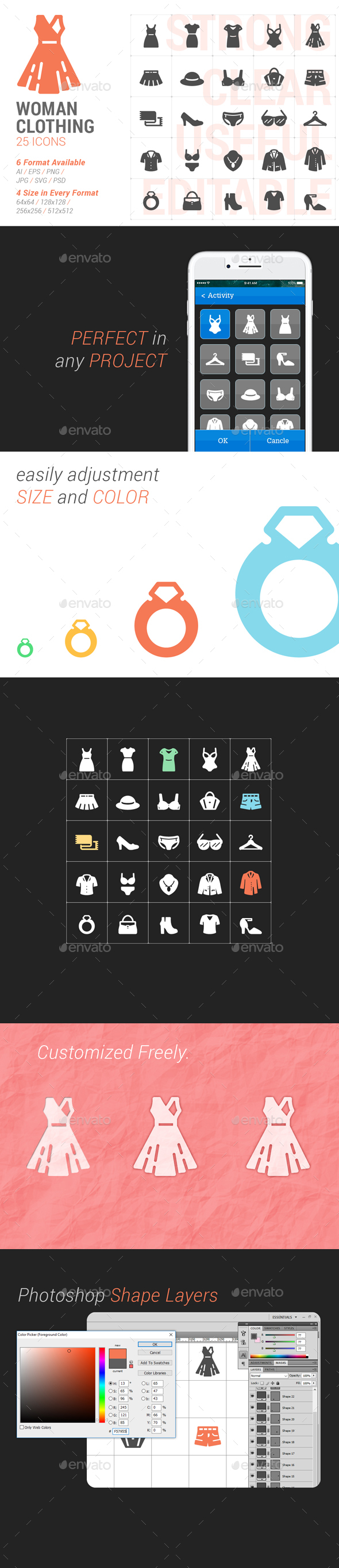 Woman Clothing Filled Icon - Objects Icons