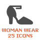 Woman Clothing Filled Icon - GraphicRiver Item for Sale