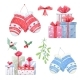 Watercolor Christmas Winter Set