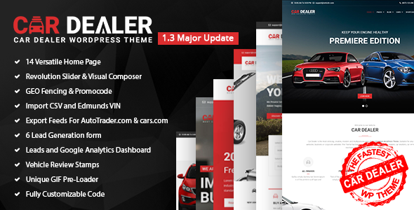 Car Dealer - The Best Car Dealer Automotive Responsive WordPress Theme - Business Corporate