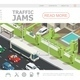 Isometric Traffic Jam Web Page Template - GraphicRiver Item for Sale