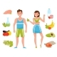 Fitness Young Woman and Man Characters - GraphicRiver Item for Sale