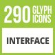 290 Interface Glyph Inverted Icons - GraphicRiver Item for Sale