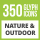 350 Nature & Outdoor Glyph Inverted Icons - GraphicRiver Item for Sale