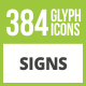 384 Sign Glyph Inverted Icons - GraphicRiver Item for Sale