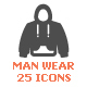 Man Clothing Filled Icon - GraphicRiver Item for Sale
