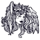 The Head of a Girl with Wings - GraphicRiver Item for Sale
