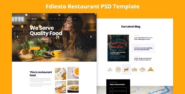 Fdiesto - Restaurant PSD Template. - Food Retail