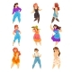 Plump, Curvy, Overweight Girls Set, Plus Size - GraphicRiver Item for Sale