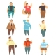 Handsome Overweight Men Set - GraphicRiver Item for Sale