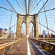 Brooklyn Bridge at sunrise, New York. - PhotoDune Item for Sale