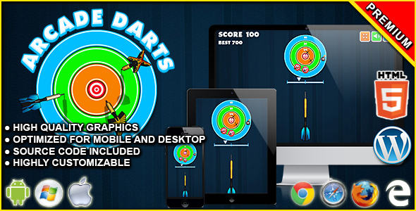 Arcade Darts - HTML5 Skill Game - CodeCanyon Item for Sale