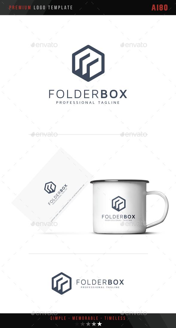 Folder Box Logo - Objects Logo Templates