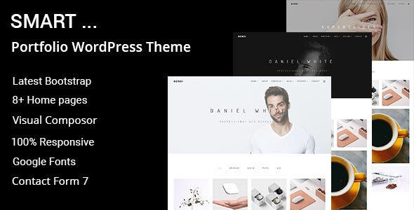 Smart Minimal Portfolio Wordpress Theme By Shtheme Themeforest
