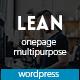 Lean - One Page Portfolio WordPress Theme - ThemeForest Item for Sale