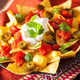 nachos loaded with salsa, cheese and jalapeno - PhotoDune Item for Sale