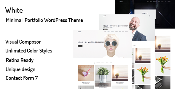 White – Minimal Portfolio WordPress Theme - Portfolio Creative