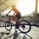 Cycling down the ramp of overpass - PhotoDune Item for Sale