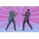 Two Men Businessman Fighting
