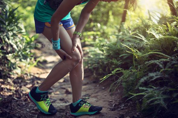 Sports injured knee - Stock Photo - Images