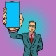 Businessman Shows a Smartphone - GraphicRiver Item for Sale