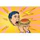 Man Eating Burger - GraphicRiver Item for Sale