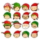 People in Christmas Hats - GraphicRiver Item for Sale