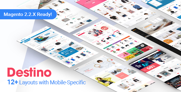 Destino - Premium Responsive Magento Theme with Mobile-Specific Layouts - Shopping Magento