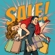 Man Carries Woman in His Arms Sale