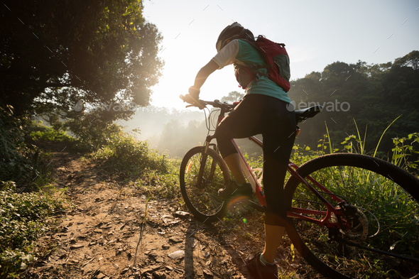 Cycling on country road - Stock Photo - Images