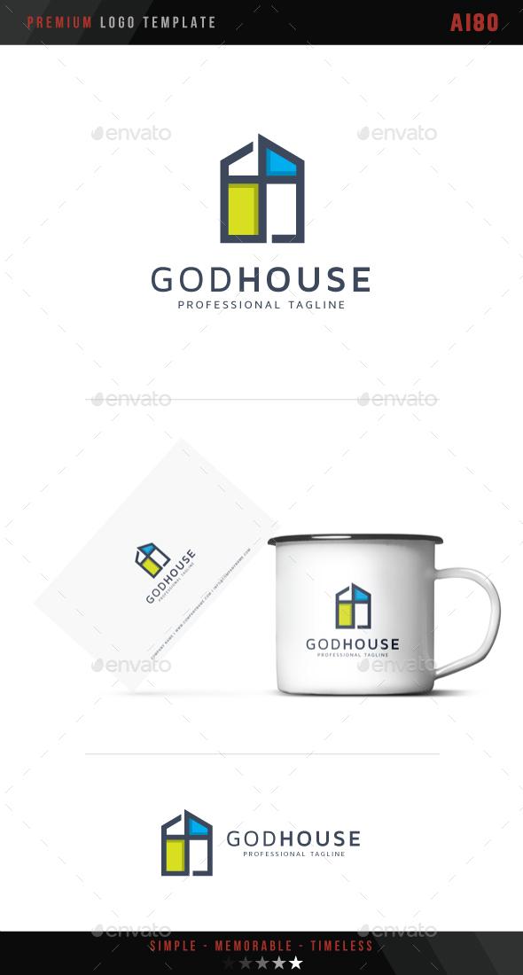 God House Logo - Symbols Logo Templates