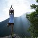 Yoga on mountain top - PhotoDune Item for Sale