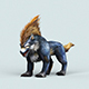 Fantasy Cartoon Wolf