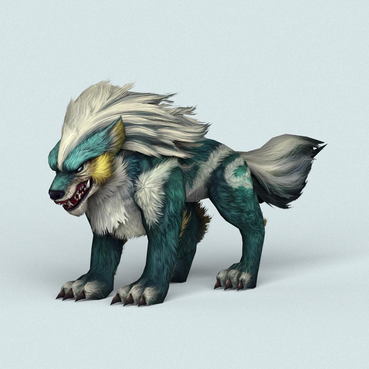 Fantasy Monster Warrior Wolf