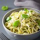 spaghetti pasta with avocado basil pesto sauce - PhotoDune Item for Sale