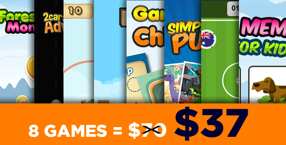Mega Bundle 8 Games - HTML5 Games (CAPX)            Nulled