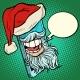 Santa Claus Communicates Via Smartphone