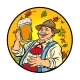 Oktoberfest Old Man with Beer