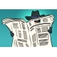 Spy Watches Through the Newspaper - GraphicRiver Item for Sale